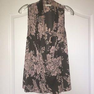 Cabi drape front blouse size L